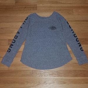 Billabong XS Long Sleeve Gray Shirt